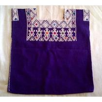 Blusa Artesanal Chiapaneca Color Morado