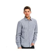 Camisa Ax Armani Exchange (chambray Stripe) Large 100%origin