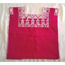 Blusa Artesanal Chiapaneca Color Rosa Mexicano