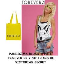 Blusa L (grande) Blanca Tote Forever 21 Victorias Secret