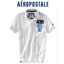 Aeropostale Playera S Chica Polo Hombre Nino Blanca Padrisma