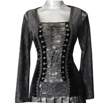 Blusa Gotica Eretica Ropadark Goth Metal Lolita Medievalpunk