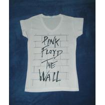 Blusa Camiseta Pink Floyd The Wall Rock Music Blanca Progres