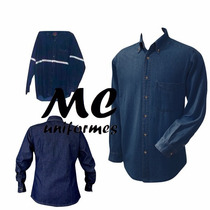 Camisola De Mezclilla 14 Oz. Azul Marino