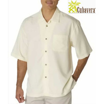 Camisa S Cubavera Guayabera Chica Blanca Hueso Manga Corta!!