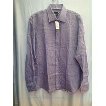 Camisa De Lino Saks Fifth Avenue, Original