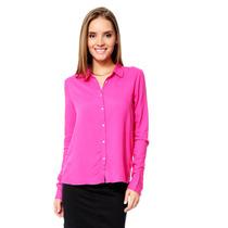 Vero Moda - Camisa Con Puntos - Rosa - 10123516