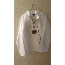 Camisa Gotica Medieval Caballero Blanco