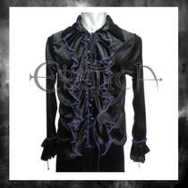 Camisa Terciopelo Eretica Ropa Dark,gotico,metalero Hombre 4