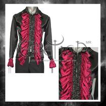 Camisa Eretica Con Escarolas.gotico,dark,metalero.rockero 1