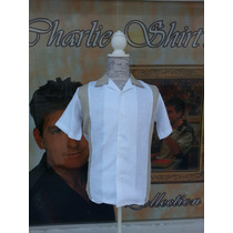 Camisa Caballero Algodón Charlie Boliche Bowling Vintage