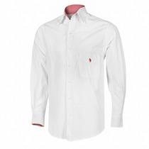 Promocion Camisa Blanca De Vestir Marca Polo Manga Larga