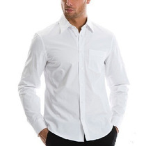 Camisa Blanca Fina Premium 70% Poliester Evita Arrugas.