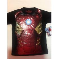 Playera Superhéroe, Iron Man , Avengers, Niño, 4 Años
