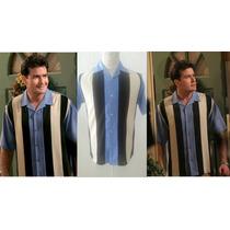 Camisa Caballero Cuvabera Lino Algodon Vintage Moda Casual