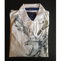 Playeras Tipo Polo American Eagle Estampada 100% Original