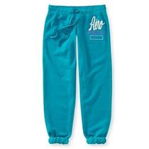Aeropostale Pants Azul Aqua Capri Para Dama 100% Originales