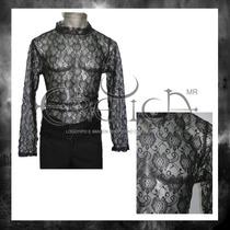 Camisa Eretica Encaje. Dark, Gotico, Metalero,