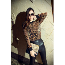 Blusa Leopardo Fashion 2015