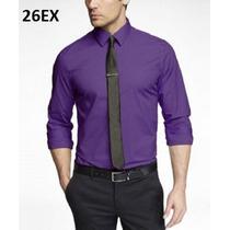S, M, L - Camisa Express Morada Ropa De Hombre 100% Original