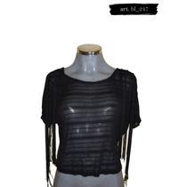 Blusa Transparente Negra Camila Jones