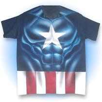 Playera Capitan America Phantomasx Camisa Comic Airbrush