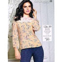 Blusa Para Dama Multicolor 126-39 Cklass