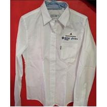 Camisas Blancas De Gabardina Ligera 100% Algodón