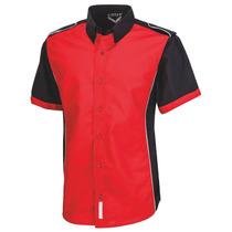 Camisa Escudería Roja Para Hombre