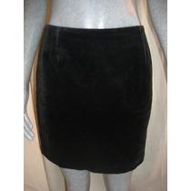 Falda De Terciopelo Color Negro Talla S Marca Gap