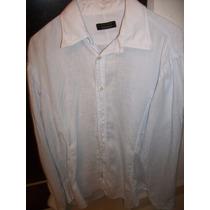 Camisa Lino Manga Larga Zara Man Talla 38 Mex (m Usa)