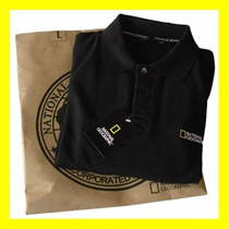 Playera Polo De Promoción National Geographic Bordada