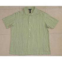 Axcess Fina Camisa Verde Talla Grande