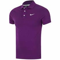 Oportunidad Playera Polo Nike Swoosh Morado Para Golf Hombre