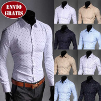 Camisas Excelentes, Slim Fit Asian Fashion Envío Gratis
