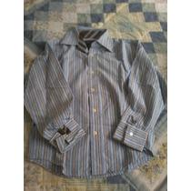 Camisa Rayada Talla 6-8 Vv4