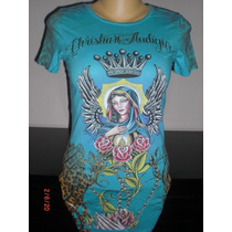 Playera Christian Audigier Para Dama Talla Medium (ed Hardy)
