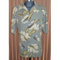 Paradise Coves Camisa Hawaiiana Talla Grande 100% Seda
