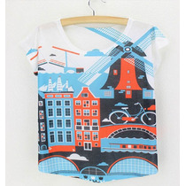 Blusas Amsterdam Holanda Unitalla Moda Vintage Europea