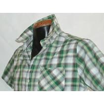 Camisa Cuadros Marca Panino M/c Alg 100% Mod 5810-1 E-sh Nvb