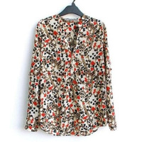Hermosa Blusa Estampado Corazones Moda Europea