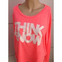 Blusa Rosa Fosforecete Estampado Talla Xl Moda 0050