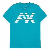 Playera Armani Exchange Ax Talla L Color Azul