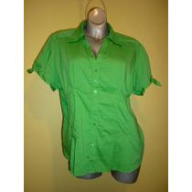 Blusa Cotton Express Stretch Verde Talla Extra Grande 3x