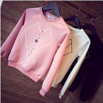 Sudadera Sueter Blusa Mini Corazon Geometrico Moda Japonesa