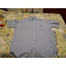 Camisa Hombre Tipo Polo Ralph Lauren Talla L Azul A Cuadros!