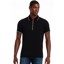 Playera Polo Armani Exchange Ax Color Negra Talla L.