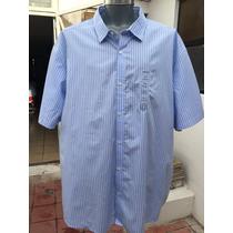Camisa Casual Claiborne Tallas Extra 4xlt 56/58 Manga Corta