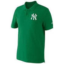 Playera Nike Cuello Tipo Polo Algodón Pique Mlb Yankees Xl