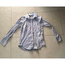 Camisa De Vestir Color Gris Talla Mediana Zara Manga Larga